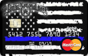 """Lamar National Bank """"Backs the Blue"""" with new card creation"""