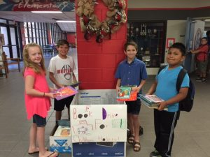 Chisum Elementary conducts book drive for Children's Hospital