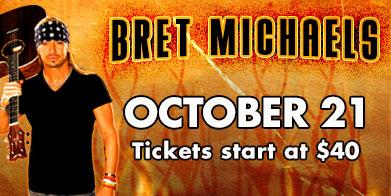 Bret Michaels live at Grant Event Center