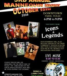 Main Street presents Mannequin Night on October 15
