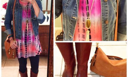 A summer dress turned into a cold weather ensemble
