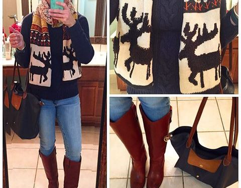 Who doesn't love a moose scarf?