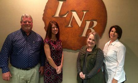 Service pins awarded to Liberty National Bank employees