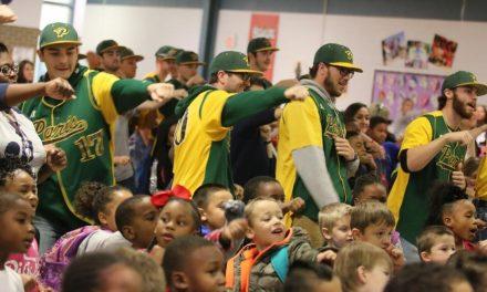 PJC Baseball Team visits Justiss Elementary