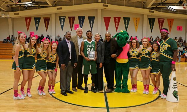 Paris Junior College player honored for 200th 3-pointer
