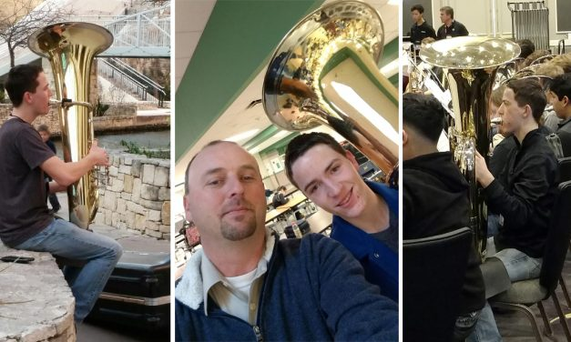 """North Lamar's Seth Carter named 1st Chair Tuba """"Best of Best"""" at Texas All-State 5A Band"""