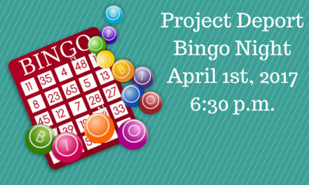 Project Deport Bingo Night on April 1st
