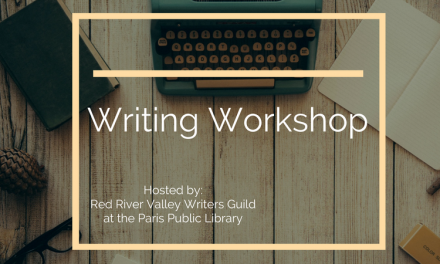 The Red River Valley Writers Guild host Writing Workshop