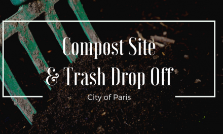 City of Paris : Drop Off Locations for Trash at No Cost
