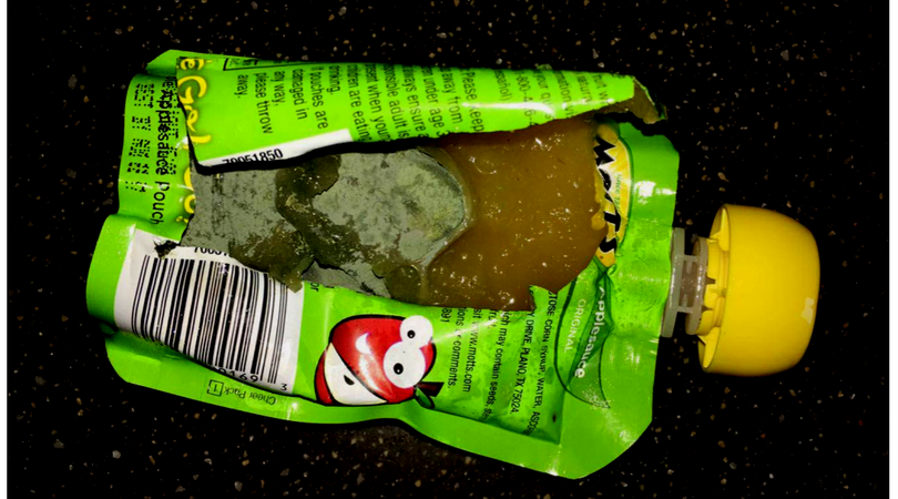 Local mom finds green mold in sons applesauce pouch