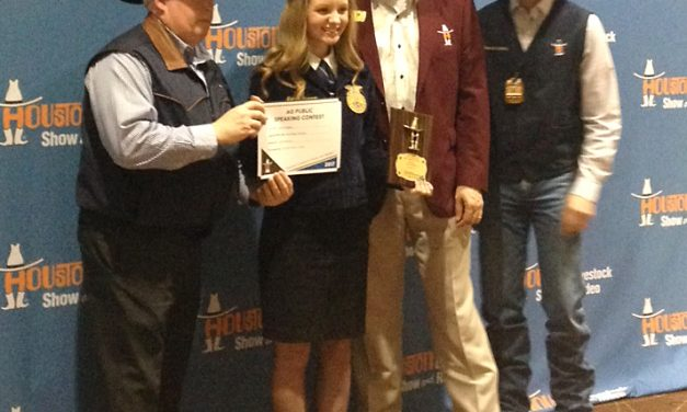 Ag speech warrants recognition for North Lamar student