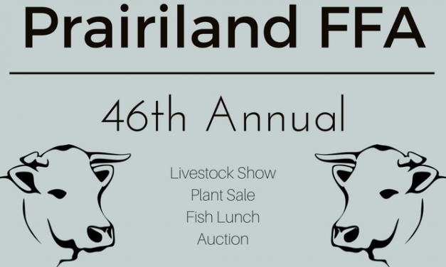 Prairiland FFA Livestock Show, Plant Sale, Lunch and Auction