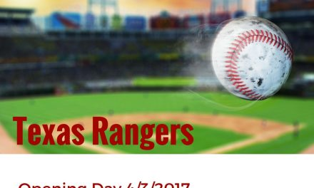 Opening Day for the Rangers – April 3, 2017