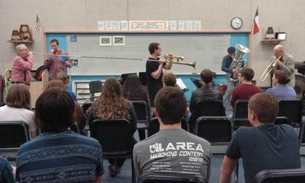 St. Louis Brass Quintet entertains Lamar County students