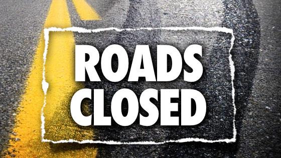 Road closure list updated – 3:55 p.m.