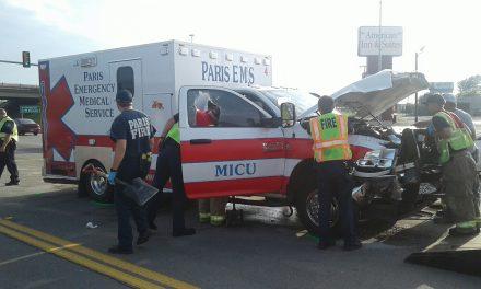 Paris EMS ambulance involved in crash