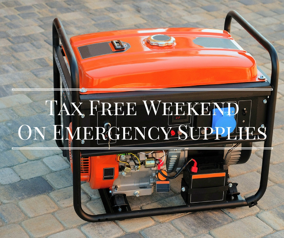 Tax Free Weekendfor Emergency Supplies (1)