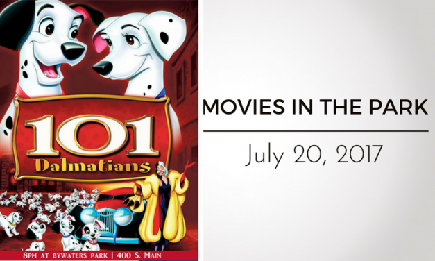 """Movies in the Park presents """"101 Dalmations"""" This Thursday"""