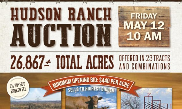 Hudson Ranch Auction Friday, May 12, 2017