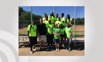 KickBallaz take home Trophy from Dylan's Drivers Kickball Tournament