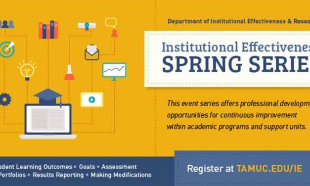 Institutional Effectiveness Spring Series