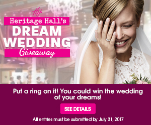 "Heritage Hall to give away free ""Dream Wedding"""