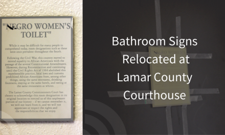 """Negro"" Bathroom Signs in the Lamar County Courthouse have been moved – Is it enough?"