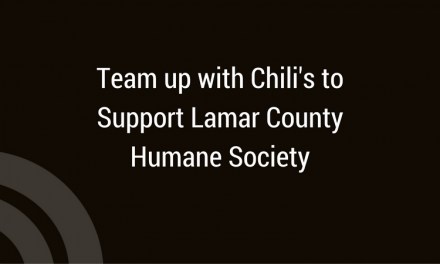 Chili's Supports Lamar County Humane Society