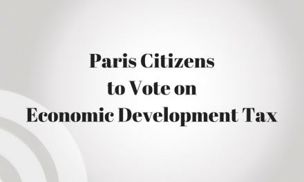 Paris Citizens will vote in November on abolishing quarter cent Economic Development tax