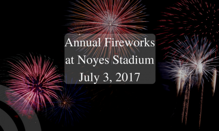 Annual Firework Show at Noyes Stadium on July 3, 2017