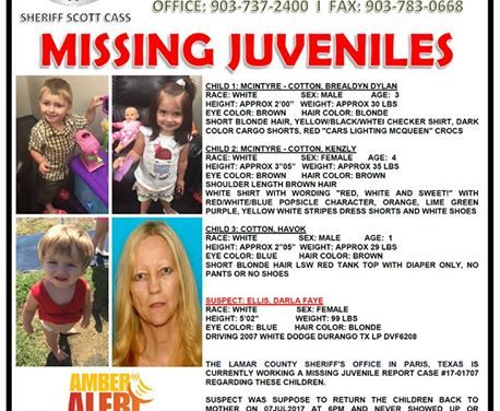 Lamar County Sheriff's Office issues Amber Alert – Abduction