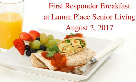 First Responder Breakfast at Lamar Place Senior Living