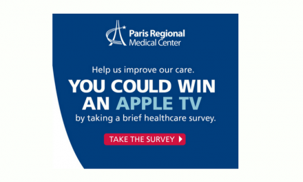 Want to win an Apple TV – Take this short survey from Paris Regional Medical