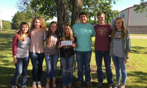 Prairiland FFA Students Help Panhandle Wildfire Relief Fund