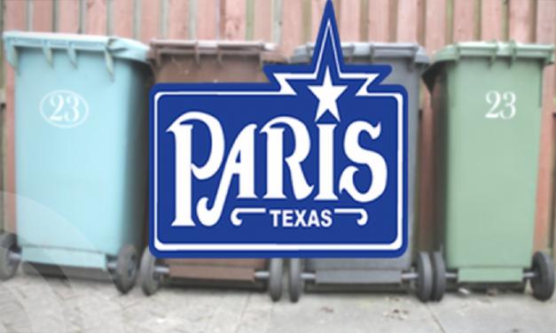 City of Paris Sanitation Holiday Schedule