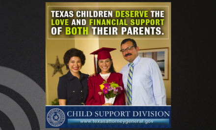 AG Paxton Launches Public Service Campaign for Child Support Awareness Month in Texas