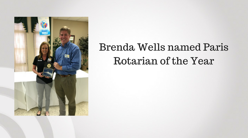 Brenda Wells named Paris Rotarian of the Year