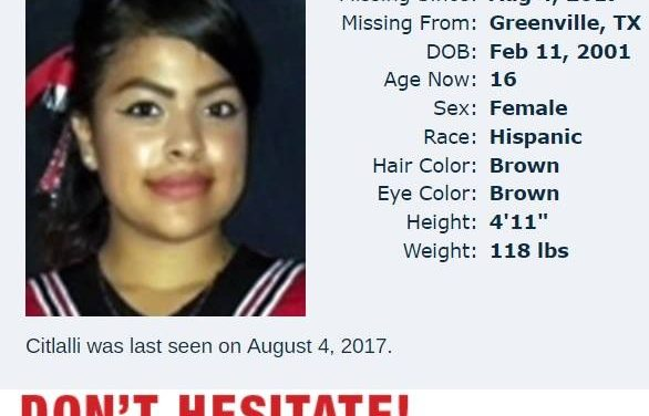 Greenville PD in search of missing girl
