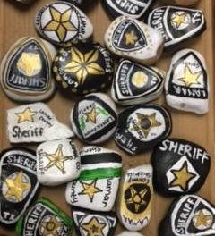 Chisum Art Students contribute to Rock Hunting in support of Lamar County Sheriff's Office
