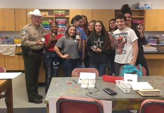 Chisum Art Students contribute to Rock Hunting in support ...