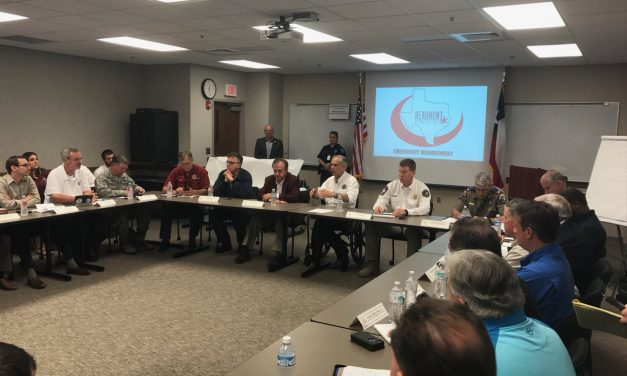 Governor Abbott, Commissioner Sharp Meet With Local Officials In Beaumont, TX