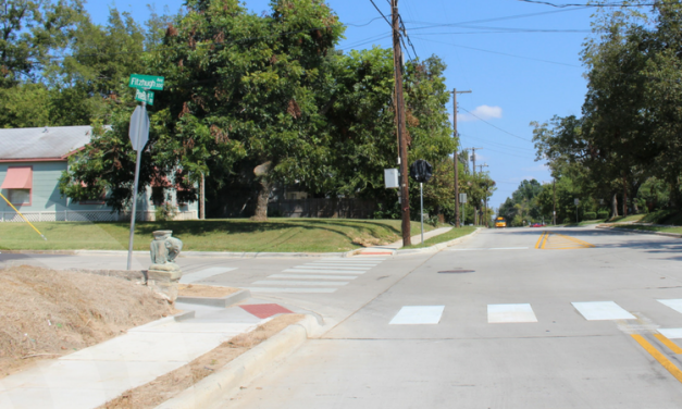 New three-way stop at busy intersection