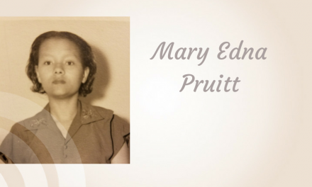 Mary Edna Pruitt of Paris