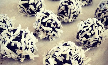 Coconut Cashew Brownie Balls | by Erin Finch