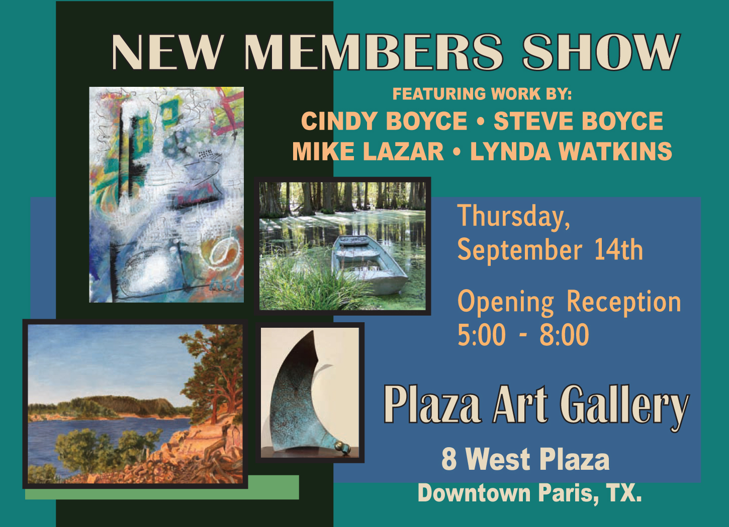 plaza art gallery new members show event navigation