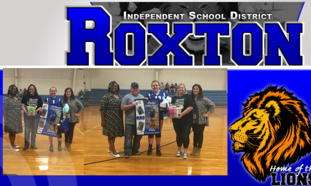 Seniors Honored at Roxton ISD Volleyball Game
