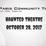 Haunted Theatre returns to Pumpkin Festival