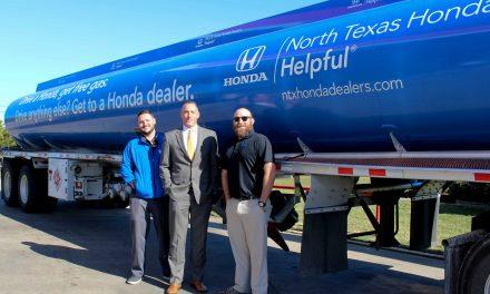 Helpful Honda Team visits Paris, TX to give away free gas to Honda drivers
