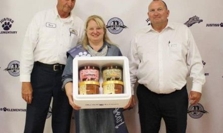 Blue Bell Ice Cream celebrates Justiss Teacher of the Year State Finalist