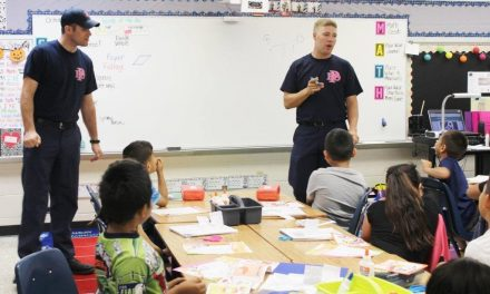 Justiss students learn about fire safety during Fire Prevention Month
